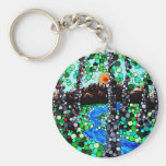 Pixel Forest Key Chain