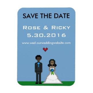 Pixel Gamer Save the Date Wedding Magnet