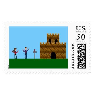 Pixel Geek Gamer by Castle Home Stamp