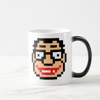 Pixel Geek Nerd 11 Oz Magic Heat Color-Changing Coffee Mug