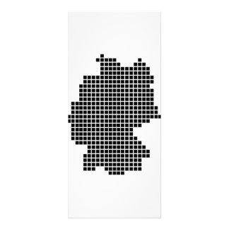 pixel germany shape rack card design