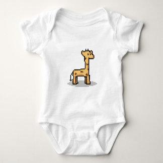 Pixel Giraffe Baby Bodysuit