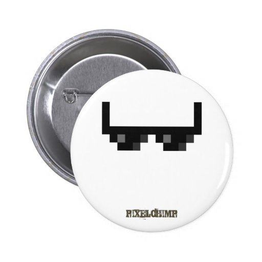 Pixel_Glasses 2 Inch Round Button