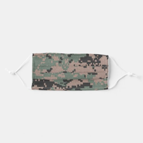 Pixel Green Camouflage Cloth Face Mask