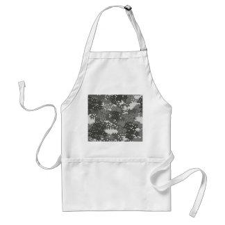 Pixel Grey & White Urban Camouflage Adult Apron