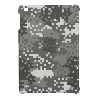 Pixel Grey & White Urban Camouflage iPad Mini Covers