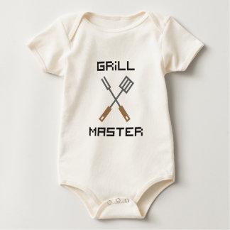 Pixel Grill Master Baby Bodysuit