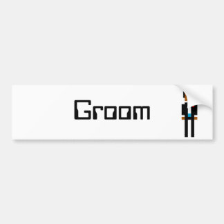 Pixel Groom 2 Bumper Sticker