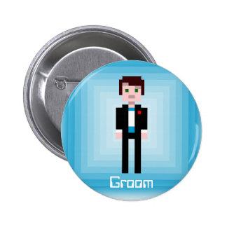 Pixel Groom 2 Pinback Button