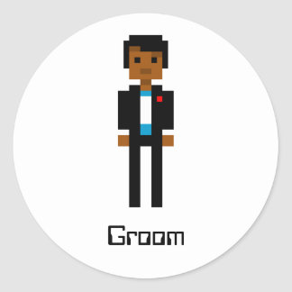 Pixel Groom 2 Classic Round Sticker