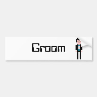 Pixel Groom - Black Hair Bumper Sticker