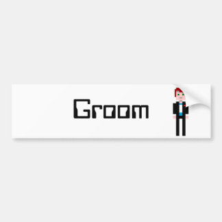 Pixel Groom - Red Hair Bumper Sticker