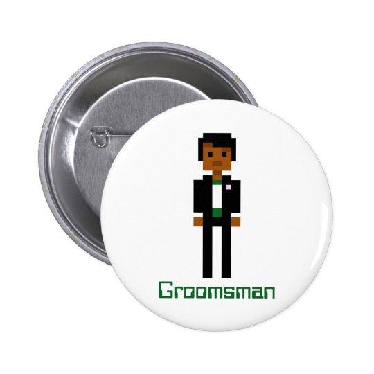 Pixel Groomsman 2 Button