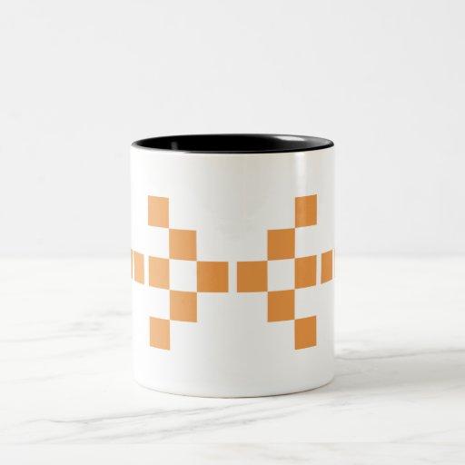 Pixel Hand of Eris Big (orange) mug