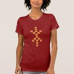 Pixel Hand of Eris (orange) ladies red t-shirt