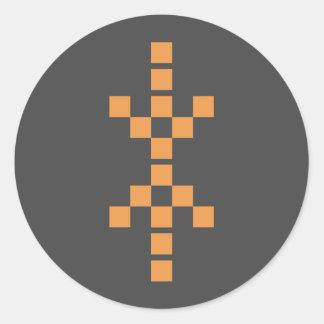 Pixel Hand of Eris orange sticker