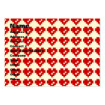 Pixel Heart 8 Bit Love Business Card Template