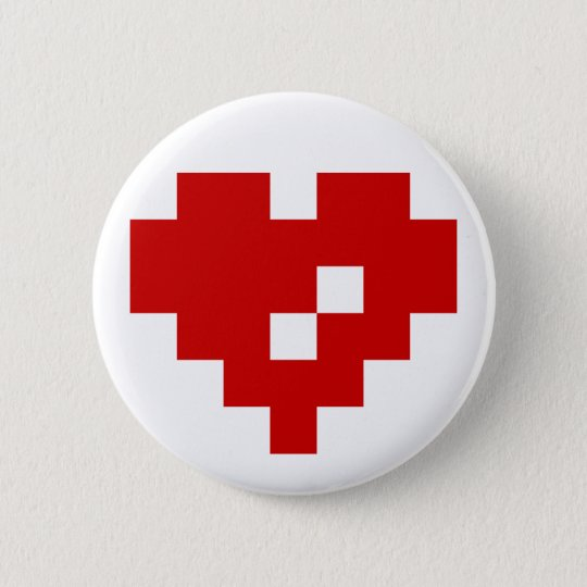 Pixel Heart 8 Bit Love Button
