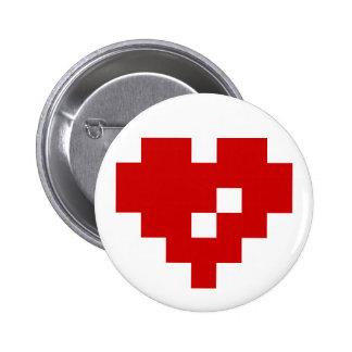 Pixel Heart 8 Bit Love Pinback Buttons