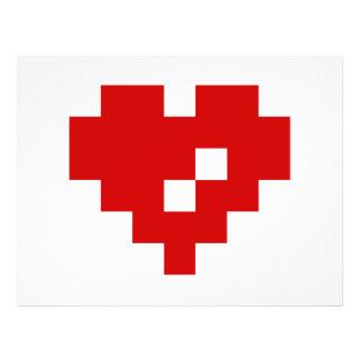 Pixel Heart 8 Bit Love Flyer