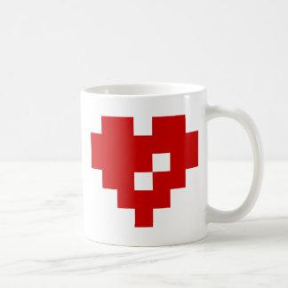 Pixel Heart 8 Bit Love Basic White Mug