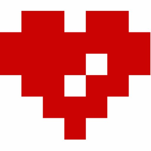 Pixel Heart 8 Bit Love Photo Cutouts Zazzle