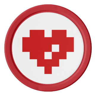 Pixel Heart 8 Bit Love Poker Chips