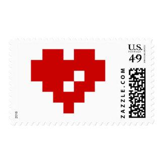 Pixel Heart 8 Bit Love Postage