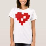 Pixel Heart 8 Bit Love T-Shirt