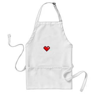 pixel heart adult apron