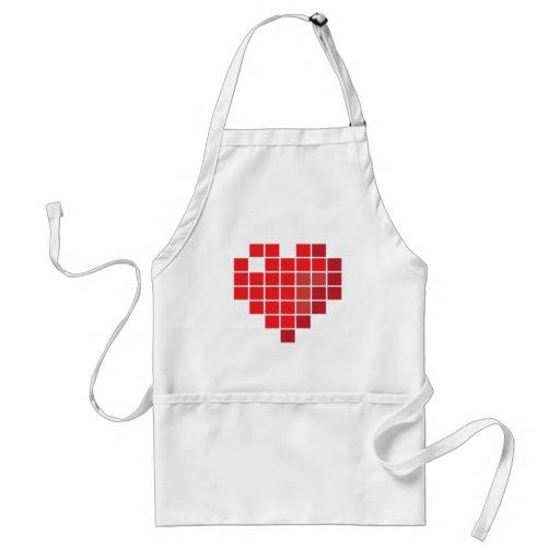 Pixel Heart Apron