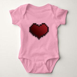 Pixel Heart Baby Bodysuit