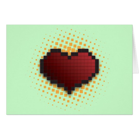 Pixel Heart Card