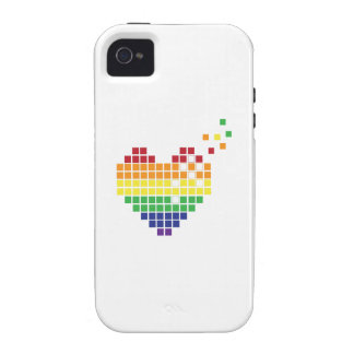 Pixel Heart Vibe iPhone 4 Cover