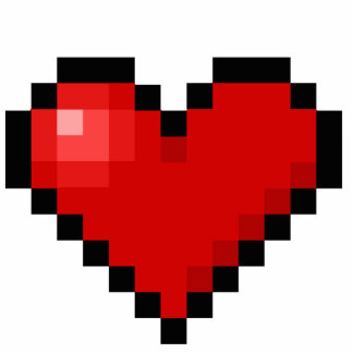 Pixel heart cutout