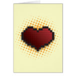 Pixel Heart Greeting Cards
