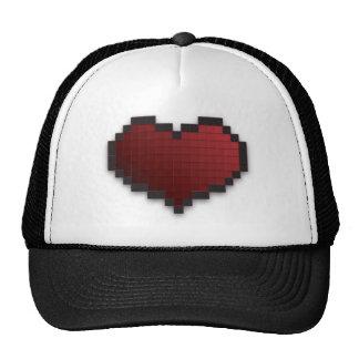 Pixel Heart Mesh Hat