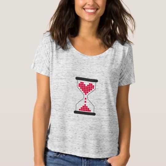 Pixel Heart Love Hourglass T-Shirt