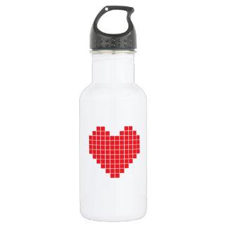 Pixel Heart 18oz Water Bottle