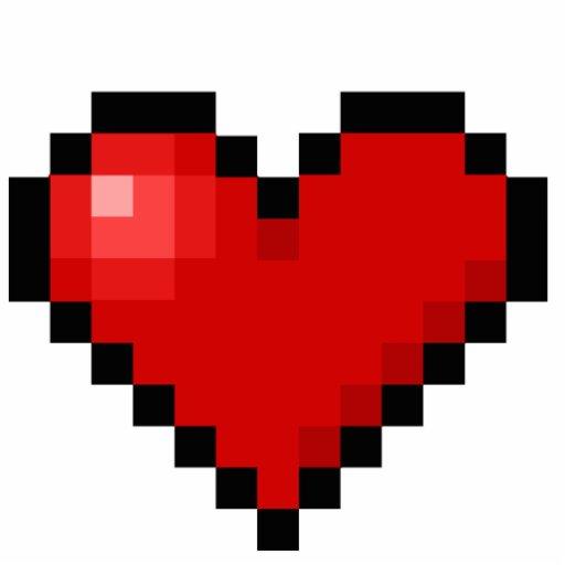 Pixel Heart Photo Sculpture Zazzle