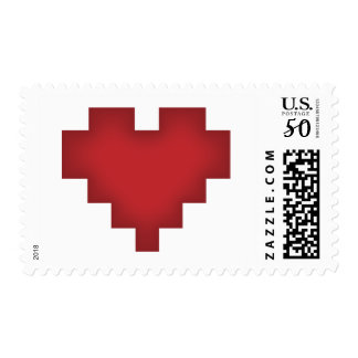 Pixel Heart Postage