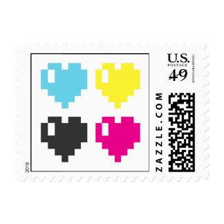 Pixel Heart postage stamp