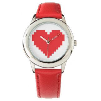 Pixel Heart Red Watch