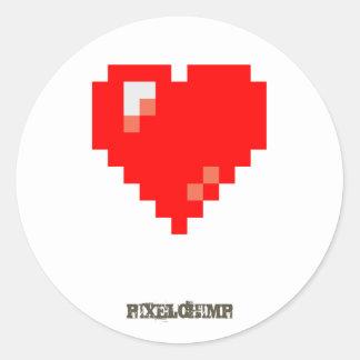 Pixel_Heart Round Sticker