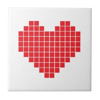 Pixel Heart Ceramic Tiles