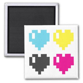 Pixel Hearts magnet