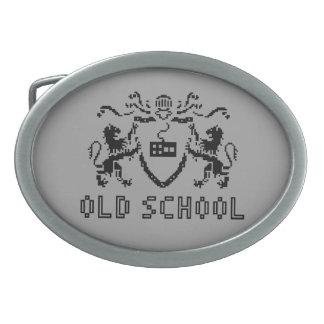 Pixel Heraldic Old School Belt Buckle