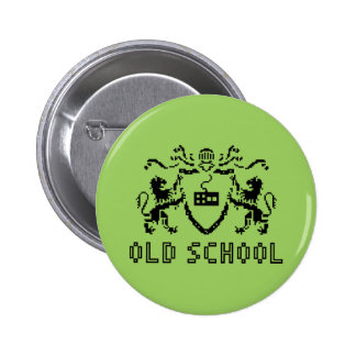 Pixel Heraldic Old School Button