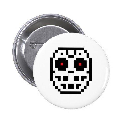 Pixel Hockey Goalie Mask Pins