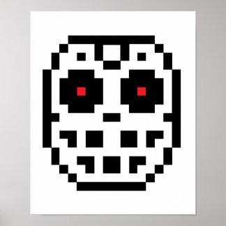 Pixel Hockey Goalie Mask Poster